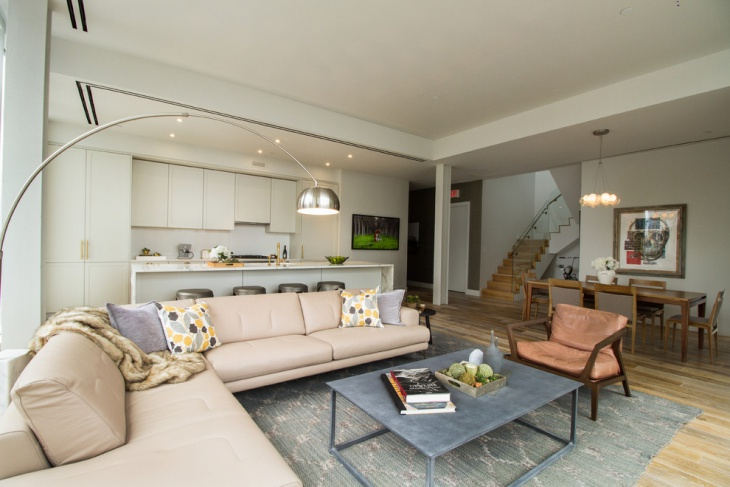 Contemporary Penthouse Living Room Design