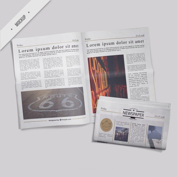 free psd newspaper mockup