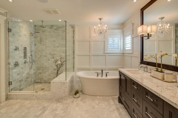 Penthouse Bathroom Tile Design