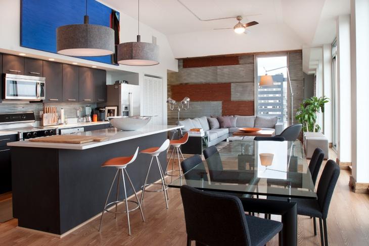 Aparment Penthouse Kitchen Design
