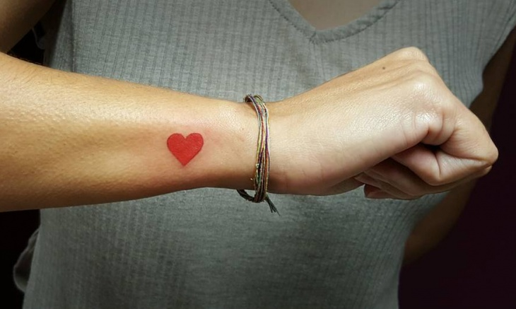 Small Love Heart Tattoo