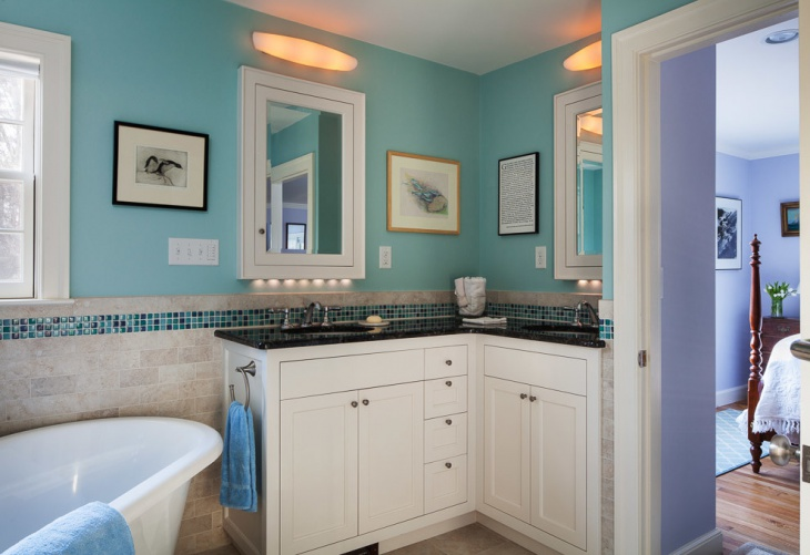 Small Corner Vanity Design