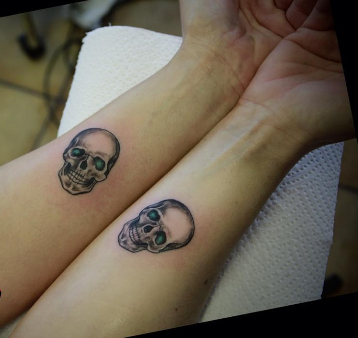 Small Skull Pair Tattoo