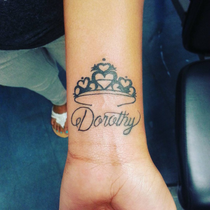 Small Crown Tattoo on Wrist