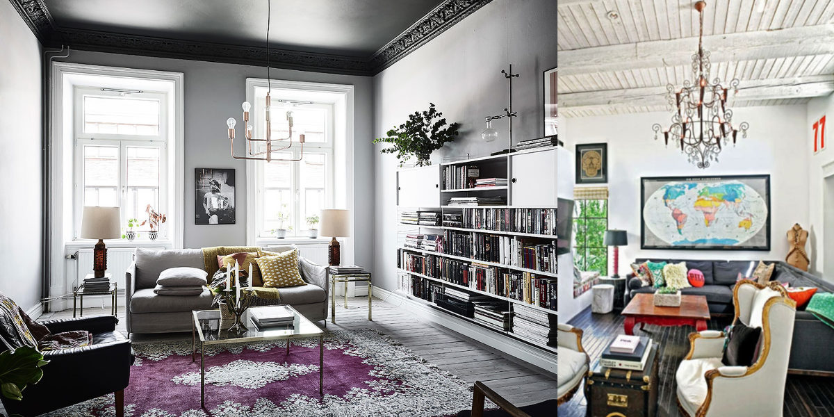 subtle eclectic living room