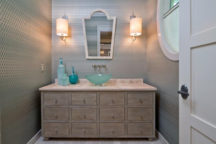 Simple Powder Room Vanity Design