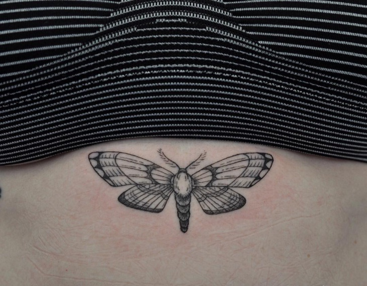 Small Butterfly Wing Tattoo