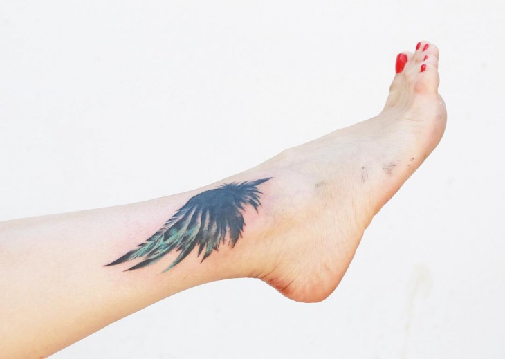 Small Eagle Wing Tattoo