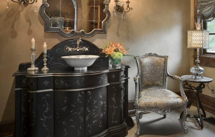 powder room vanity sink design