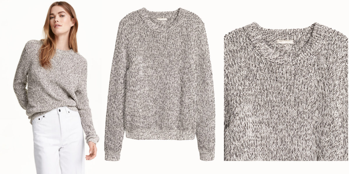 Melange Knit Sweater