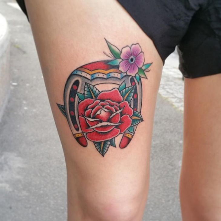 Colorful Tattoo for thigh