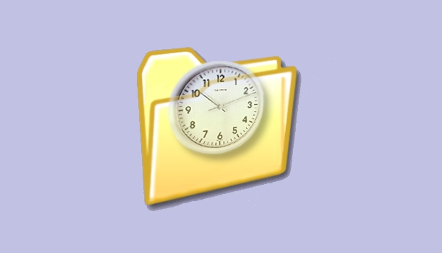Folder Clock Icon Design