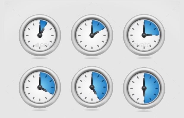 round clock icons