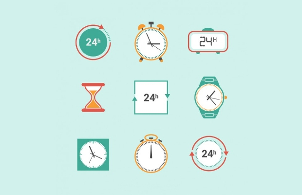Free PSD Clock Icons