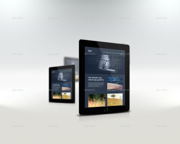 responsive website mockup
