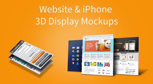 website iphone display mockup