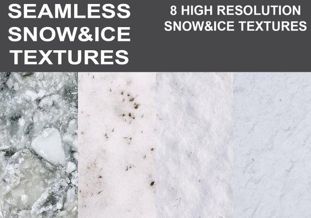 seamless snow ice texture