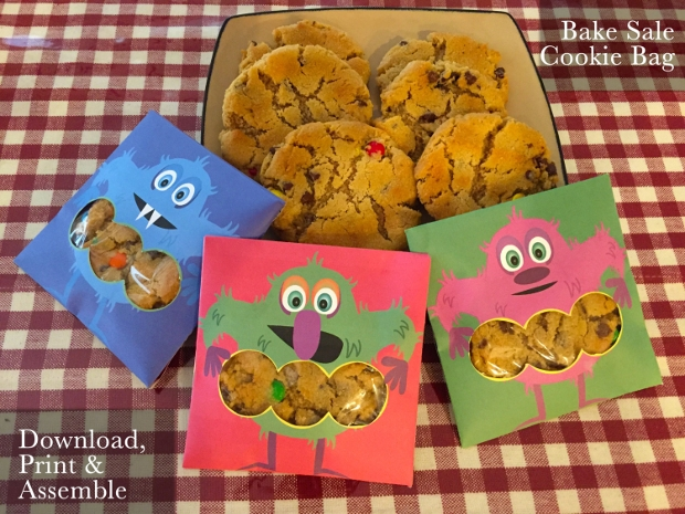 bake sale cookie packaging