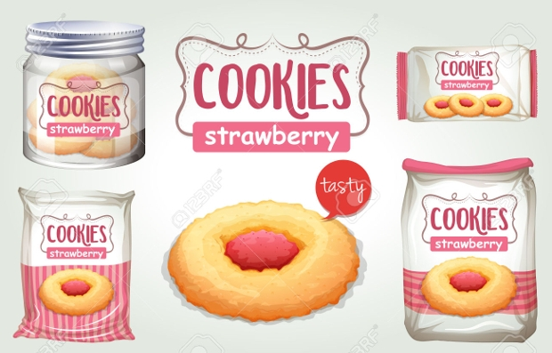 commercial cookie packaging