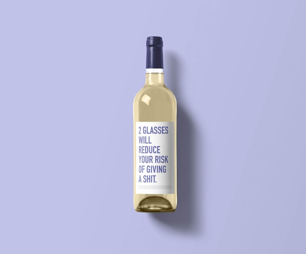 Funny Wine Label Design