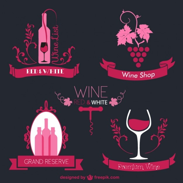 Pink Wine Label