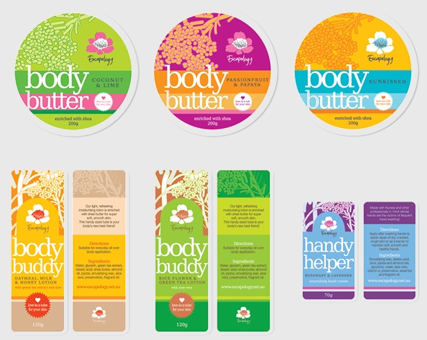 Skin Care Product Label Design