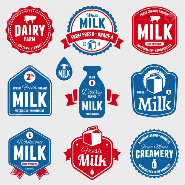Dairy Products Label Design