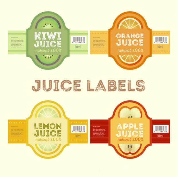 juice product label design
