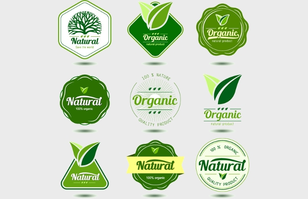 Green Natural Product Label Design