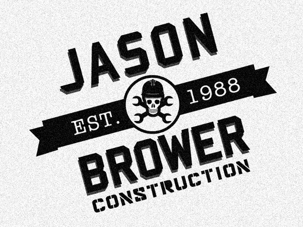Retro Construction Logo Design