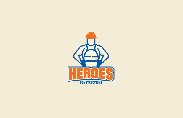 Heroes Construction Logo Design