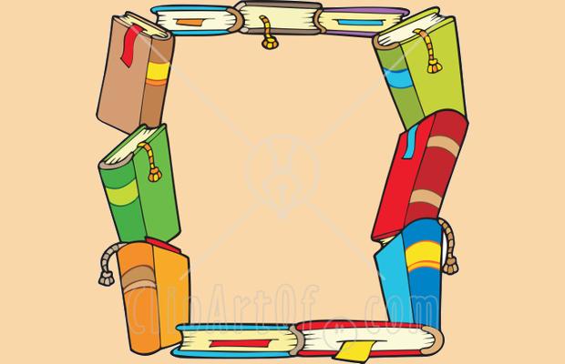 Book Border Clipart