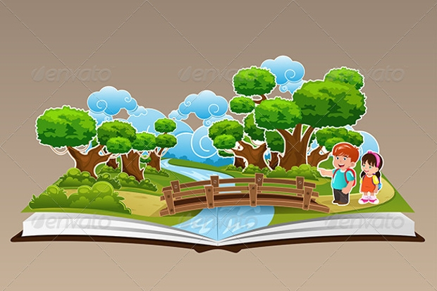 pop up book clipart