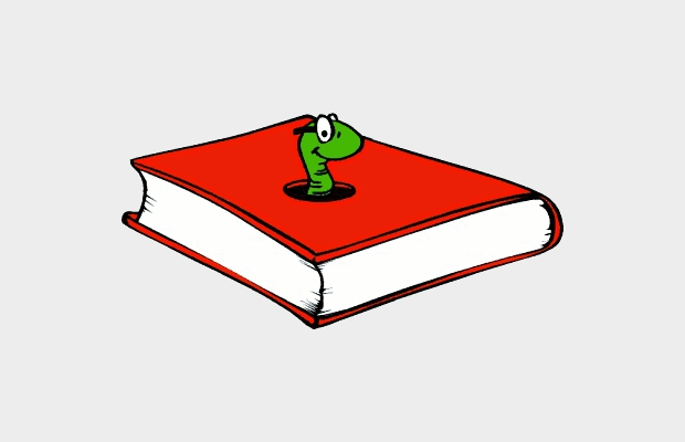 funny book clipart design