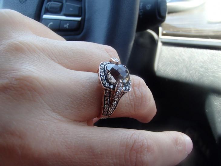 chocolate diamond wedding ring