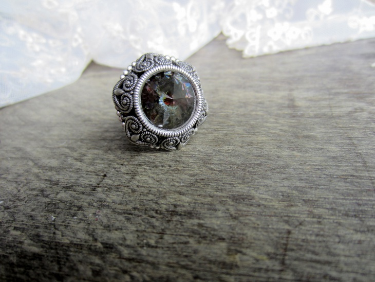 Black Opal Wedding Ring