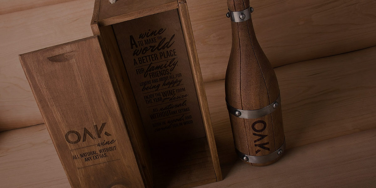Oak Wooden Wine Bottle