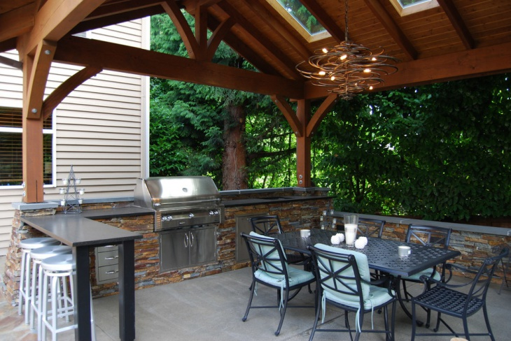 outdoor patio chandelier