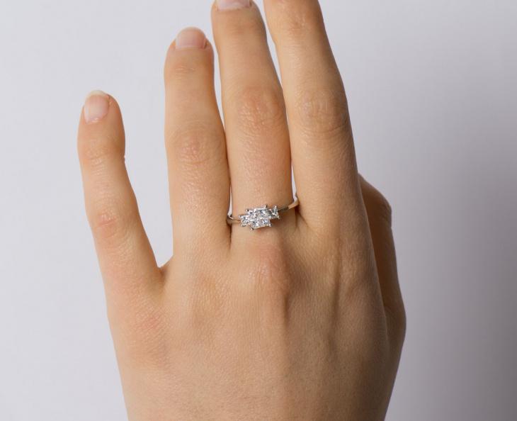 square stone wedding ring