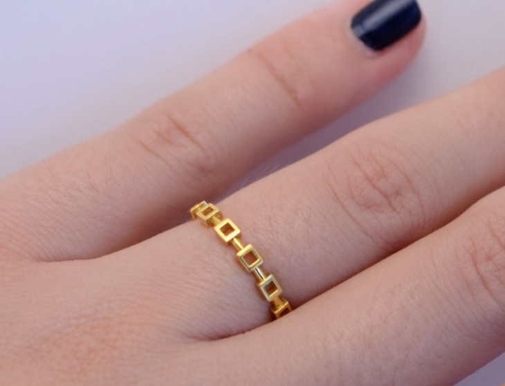 Square Band Wedding Ring