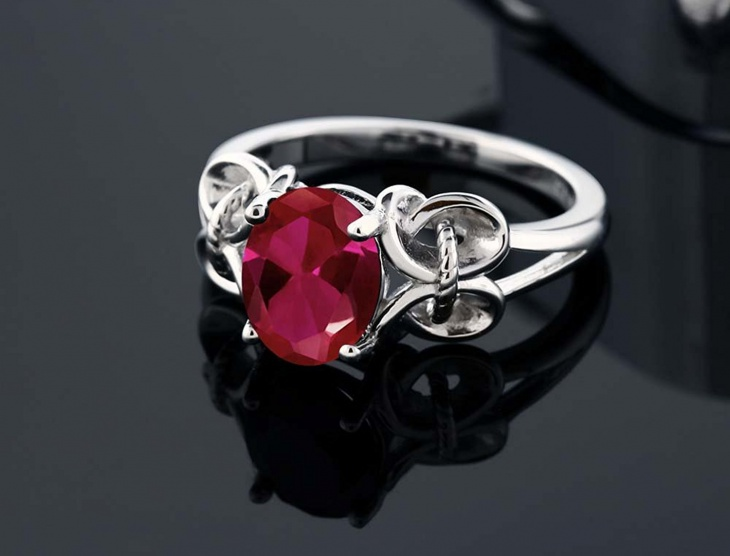 Vintage Ruby Wedding Ring