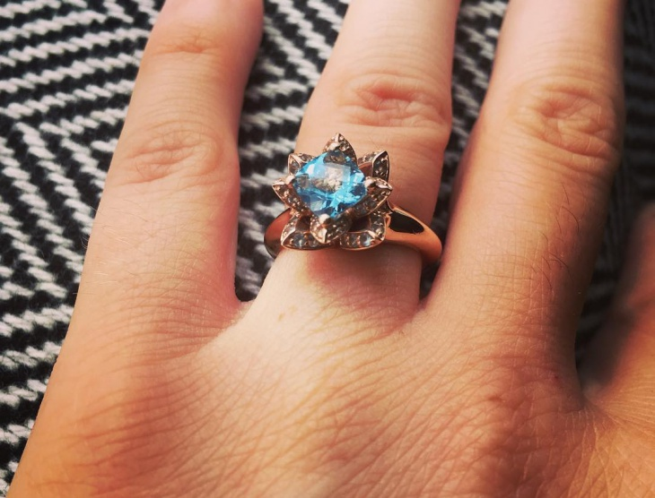 lotus flower wedding ring idea