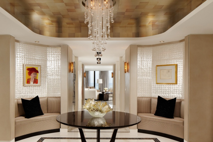 entryway crystal chandelier design