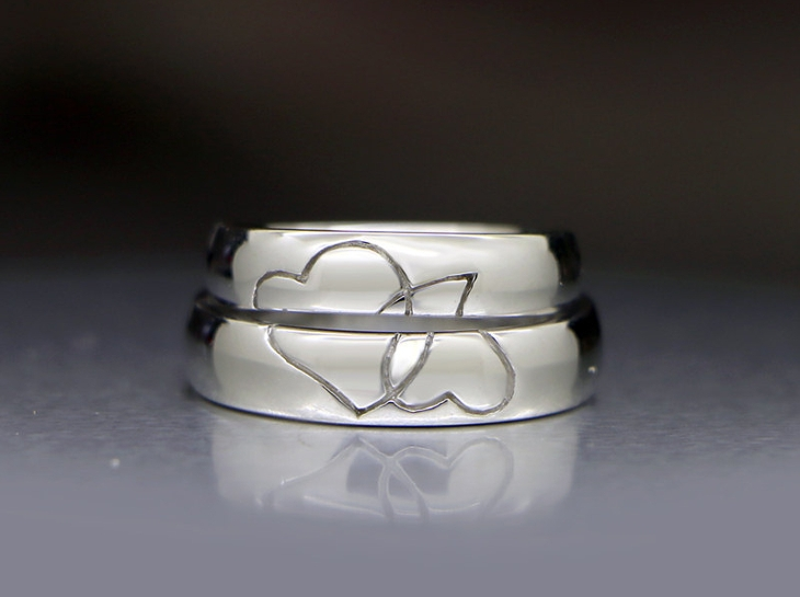 Half Heart Wedding Ring