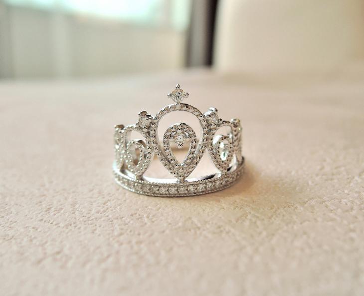 princess crown wedding ring