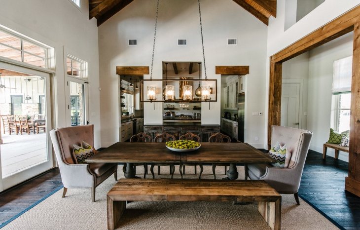 rustic rectangular chandelier design