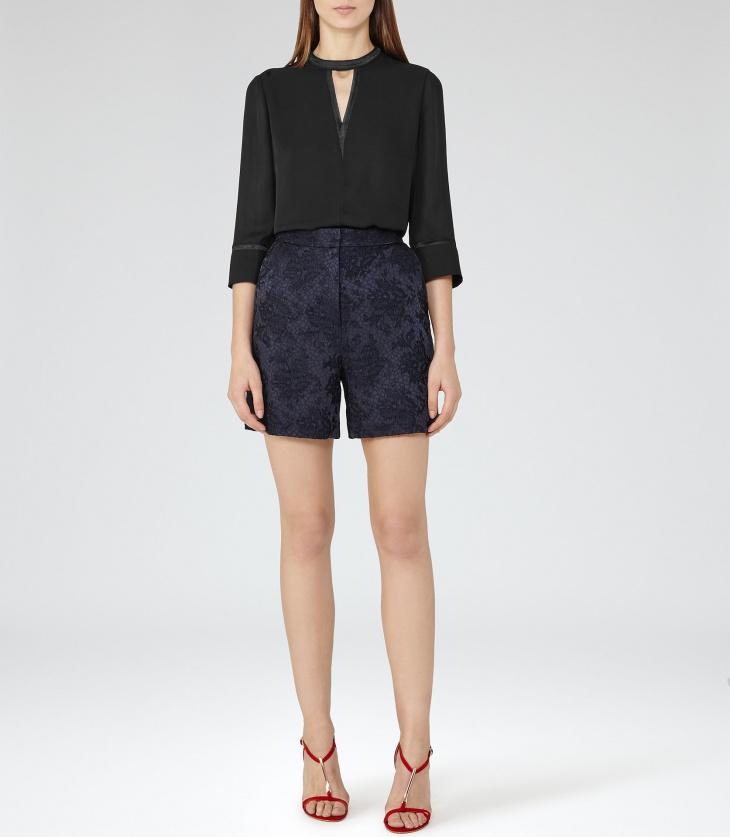 Part Wear Black Full Sleeve Top