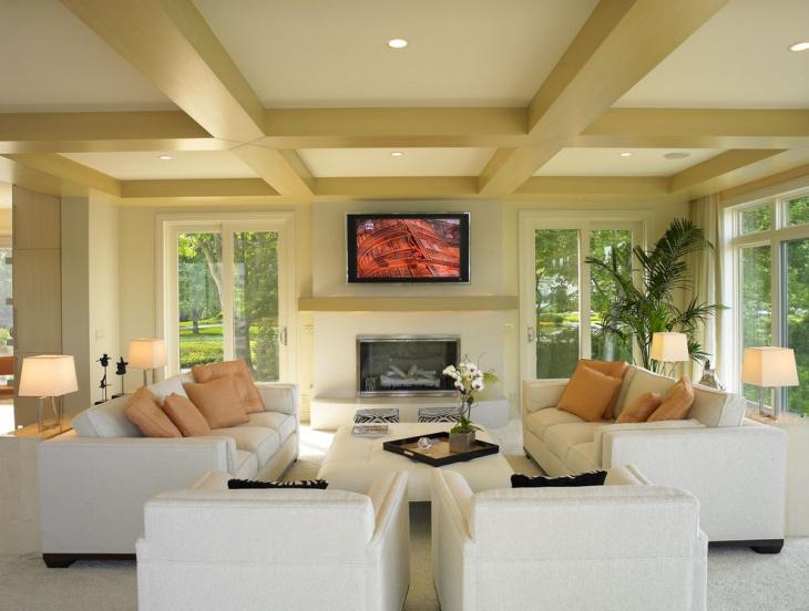Modern Coffered Ceiling Design