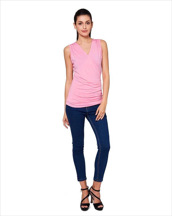 Designer Pink Tank Top
