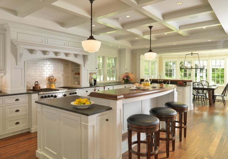 Coffered Kitchen Ceiling Design